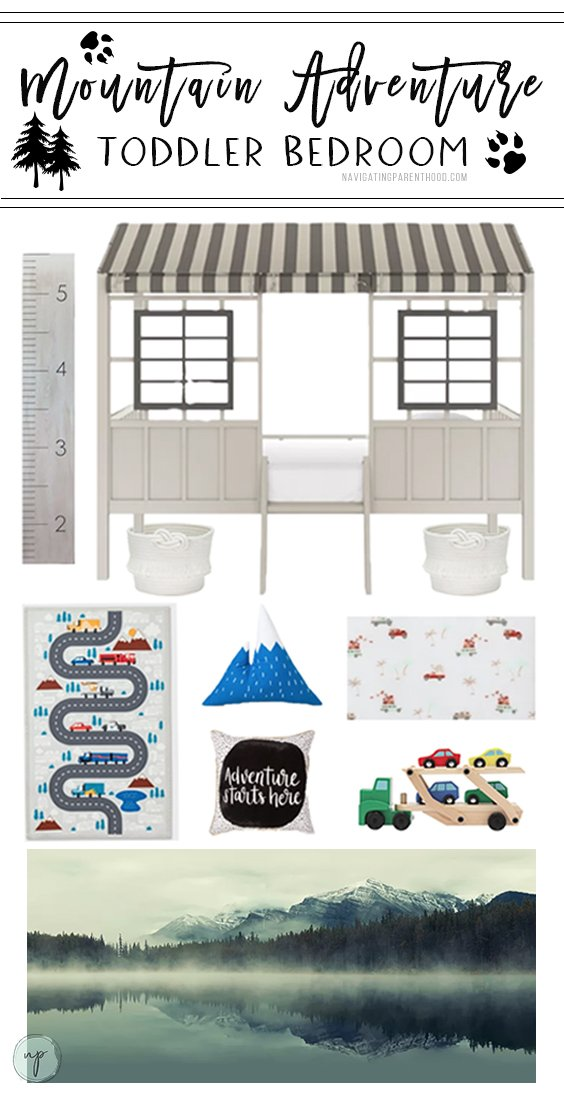Toddlers love to explore, so it's only fitting that the adventurous tot in your life has a mountain bedroom to match their curiosity, right?