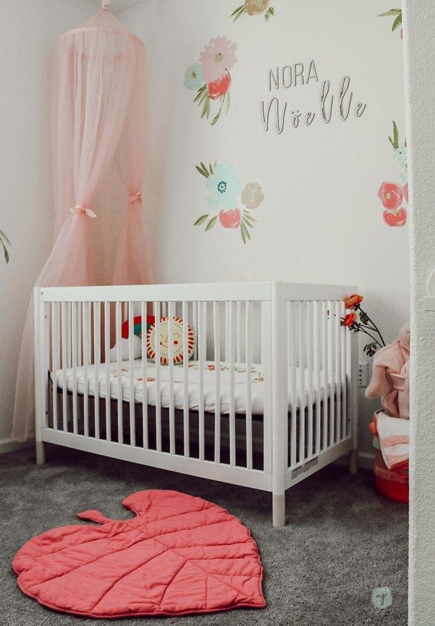 Noras floral bohemian nursery room