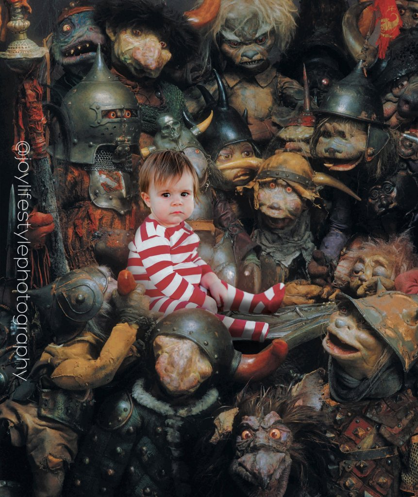 Baby boy in baby Toby goblin scene of the Labyrinth