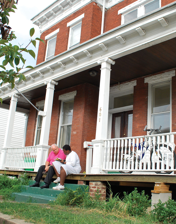 Navigator board member Penn Pendleton tutors young people through an inner-city program sponsored by his church in Richmond, Virginia.