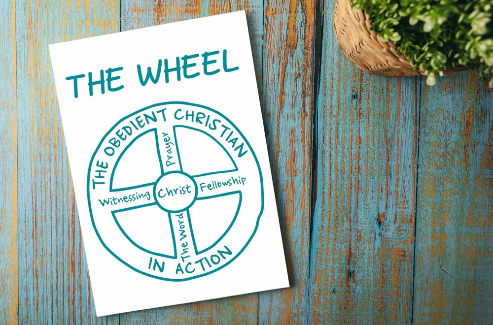 The Wheel | Navigators Discipleship Resource | The Wheel illustration on a coffee table