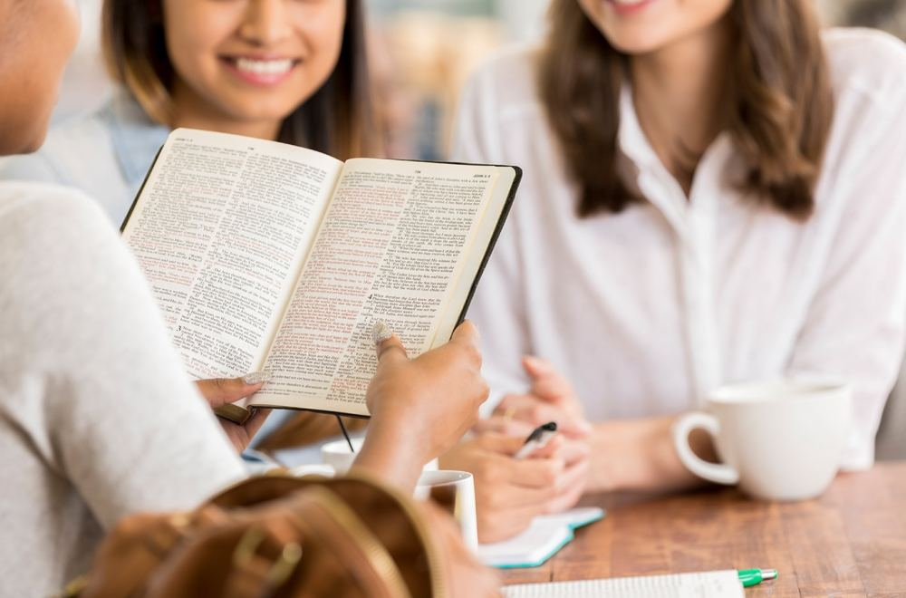 Women participate in Bible study