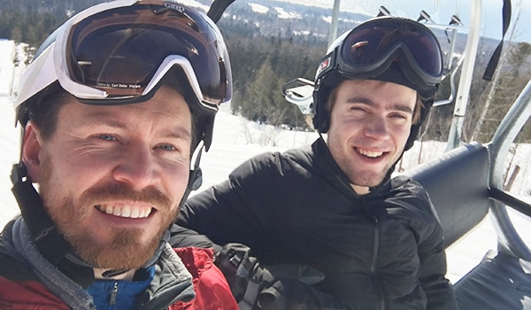 Driven Disciple | The Navigators 20s Generation | Alec (left) and Corey (right) enjoying a ski outing