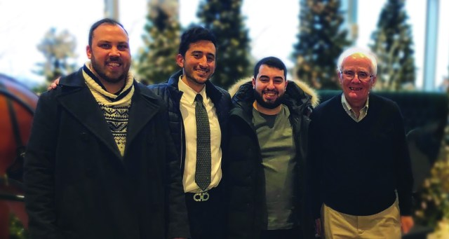 God Opens a Community for Disciplemaking | The Navigators Workplace Ministry | Left to right: Jon Hans, Bryan, Christian, Roger Van Noord