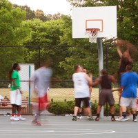 Gospel Sweet Spot | The Navigators Collegiate Ministry | Motion Blur Of Men Playing Pickup Basketball On Playground Court