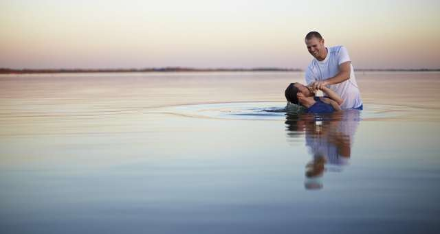 A Spiritual Drill Sergeant | The Navigators Military | A person being baptized