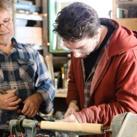 Spiritual Extended Family: Generations of Marines | The Navigators Military | Family Working Together in Wood Shop