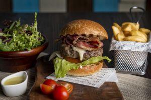 Burger beef bacon