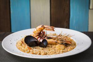 Risotto seafood prawn italian