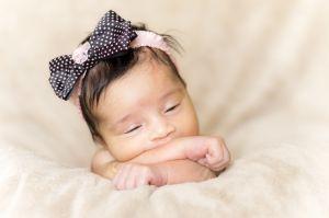 Portrait newborn baby