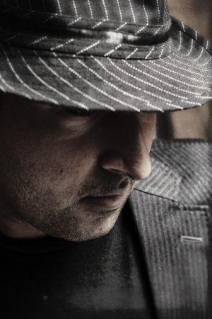 Portrait male hat godfather
