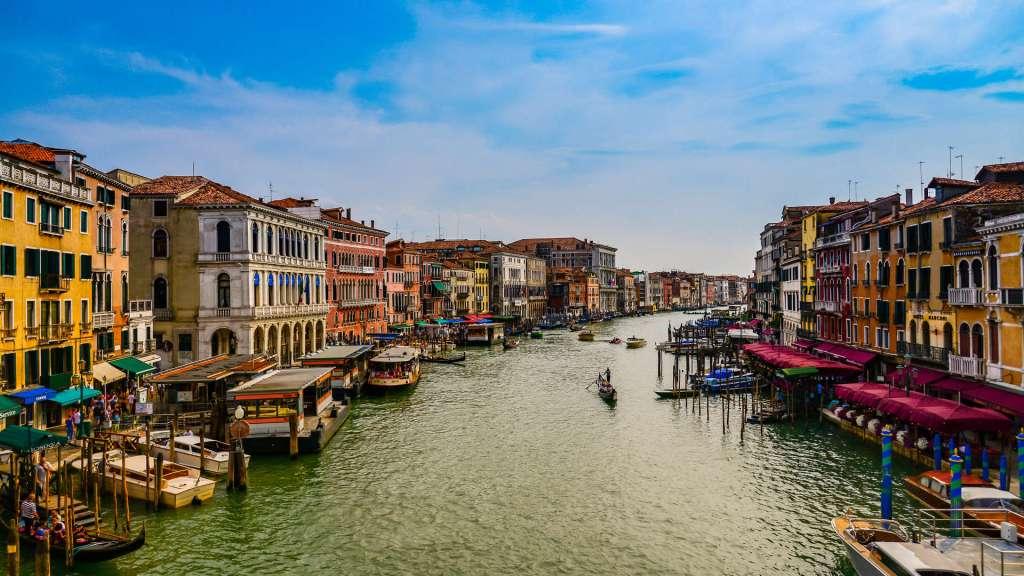 Venice - A View fromm the Rialto Bridge