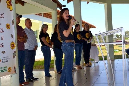 Foto: Assessoria de Imprensa - Lançamento da 1º EMEF de tempo integral de Naviraí.
