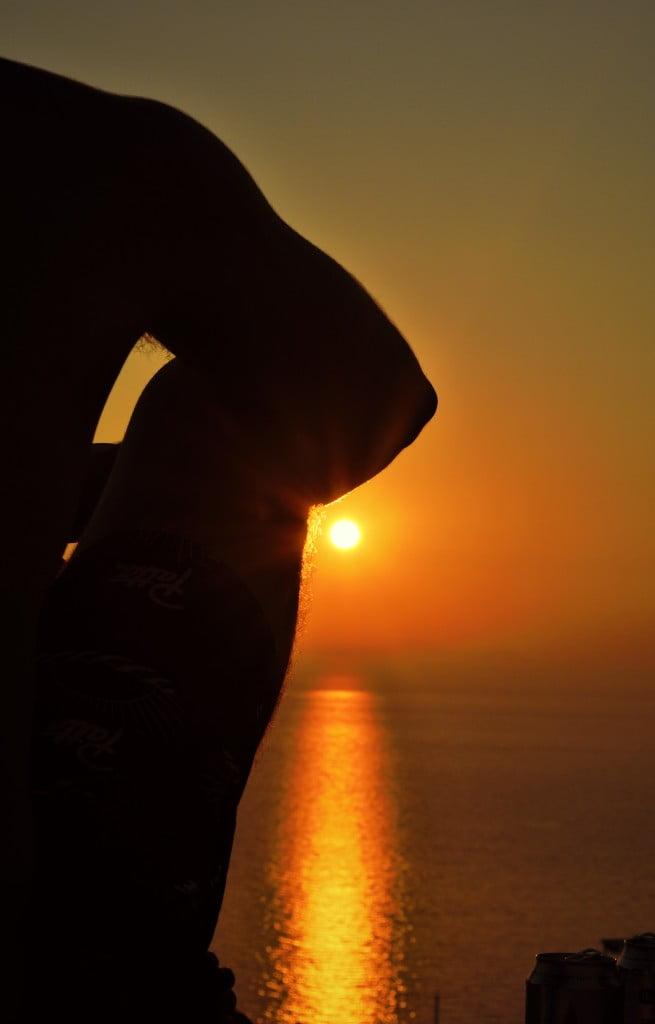"""Sunset in Santorini"" © Navroop Sahdev. All rights reserved."