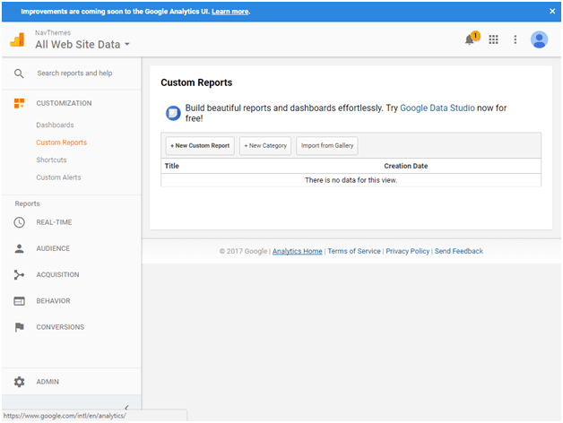 google analytics Customization