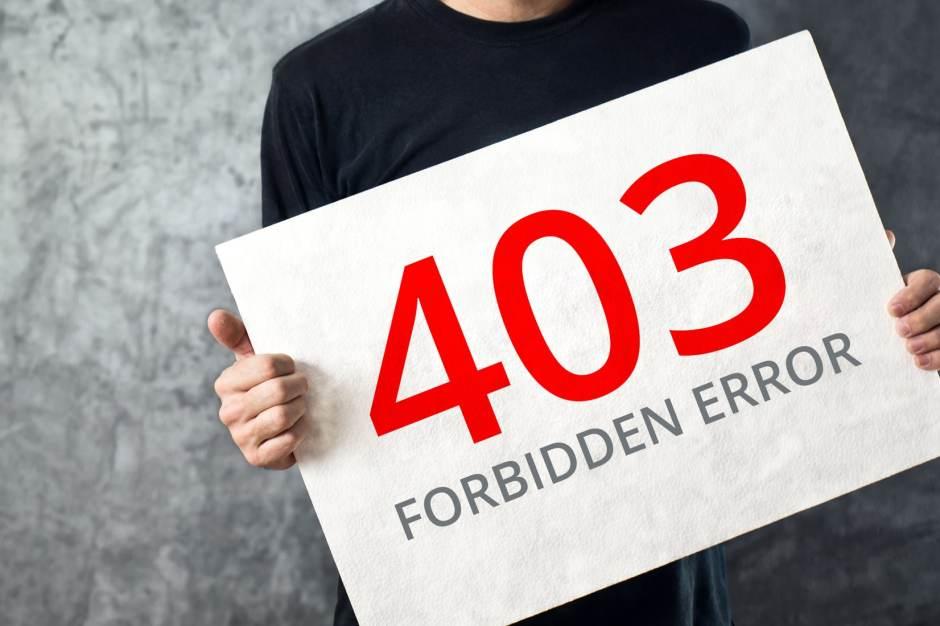 403 forbidden error in wordpress
