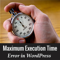 maximum execution time of 300 seconds exceeded