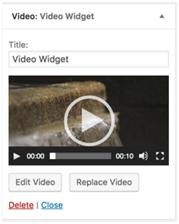 video widget