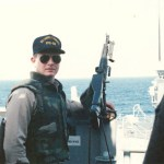 Lt. (j.g.) Bob Chambers, in the Gulf in 1988