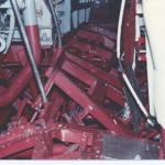 Hull stringers damaged