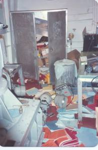 Repair locker in shambles