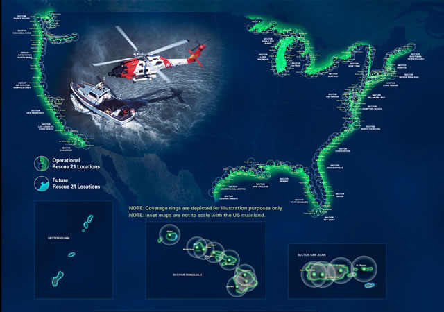 The U.S. Coast Guard awarded General Dynamics Mission Systems a $125.6 million follow-on contract to provide Rescue 21 program management, system support and maintenance and sustainment engineering support for the U.S. Coast Guard Command, Control, and Communications Engineering Center.