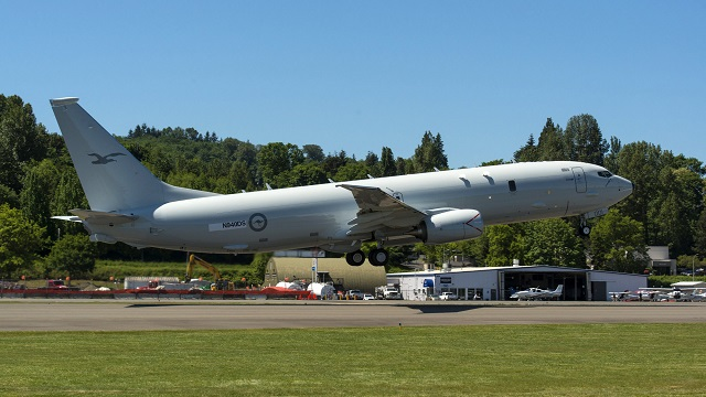 Australia's first P-8A Poseidon maritime patrol aircraft has completed its maiden flight. The aircraft flew a short distance from Renton Airfield to Boeing Field in Washington State USA, to where the P-8A's sophisticated mission systems will be installed as part of project AIR 7000.