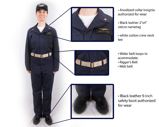 US Navy New Improved Flame Resistant Variant IFRV Coverall 2