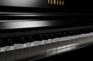 Piano in dark