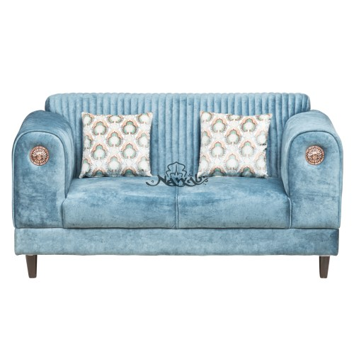 2 Seater Suede fabric wooden frame with foam padding