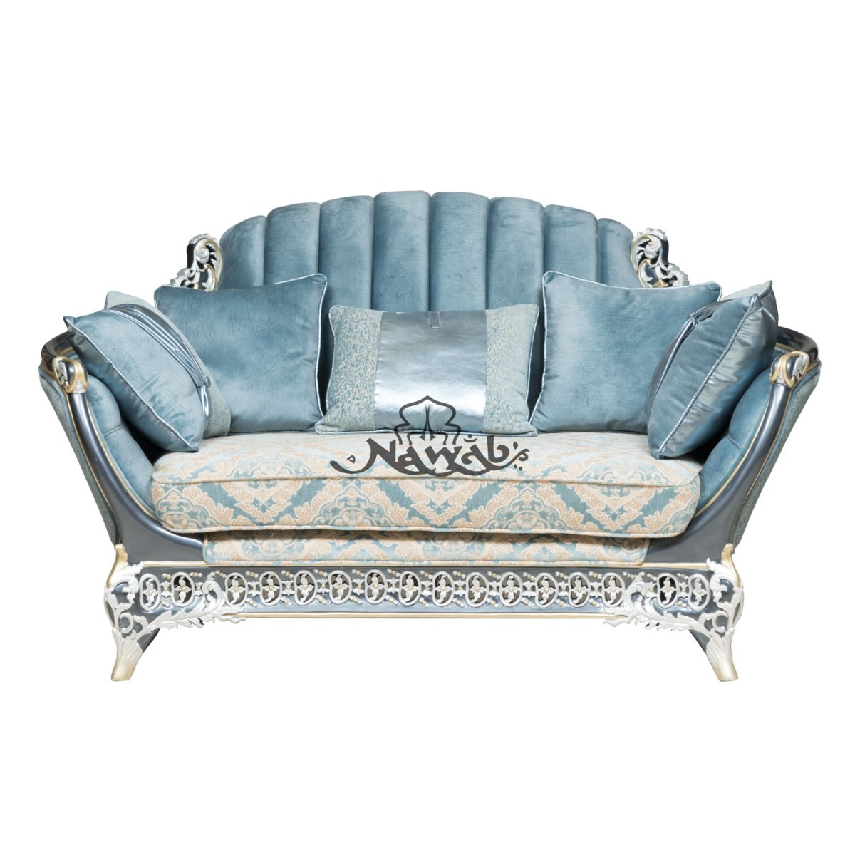 2-seater-teakwood-hand-carved-sofa-blue-white-pearl-polish-with-golden-lining-high-end-suede-upholstery-table-blue-onyx-top