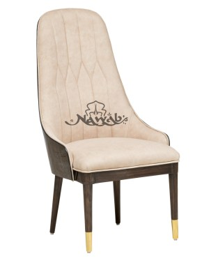 Ebony grained veneer brass framing marble onex golden cap in chair base suede upholstery customized quilting