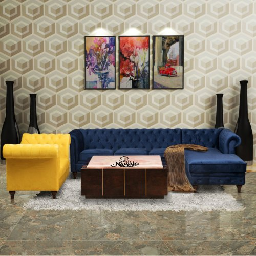 Velvet-fabric-wooden-frame-with-foam-padding-teak-wood-legs-background