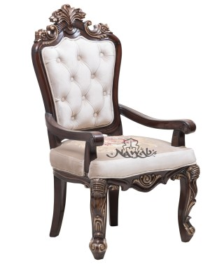 Teak wood chairs velvet with customised pattern on chair base solid wooden carved table w 12mm glass top walnut shaded polish