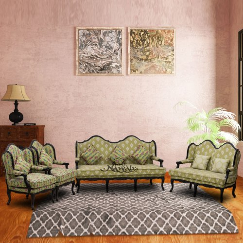 teak-wood-victorian-carving-sofa-cotton-floral-fabric-with-cushions-melamine-polish-background