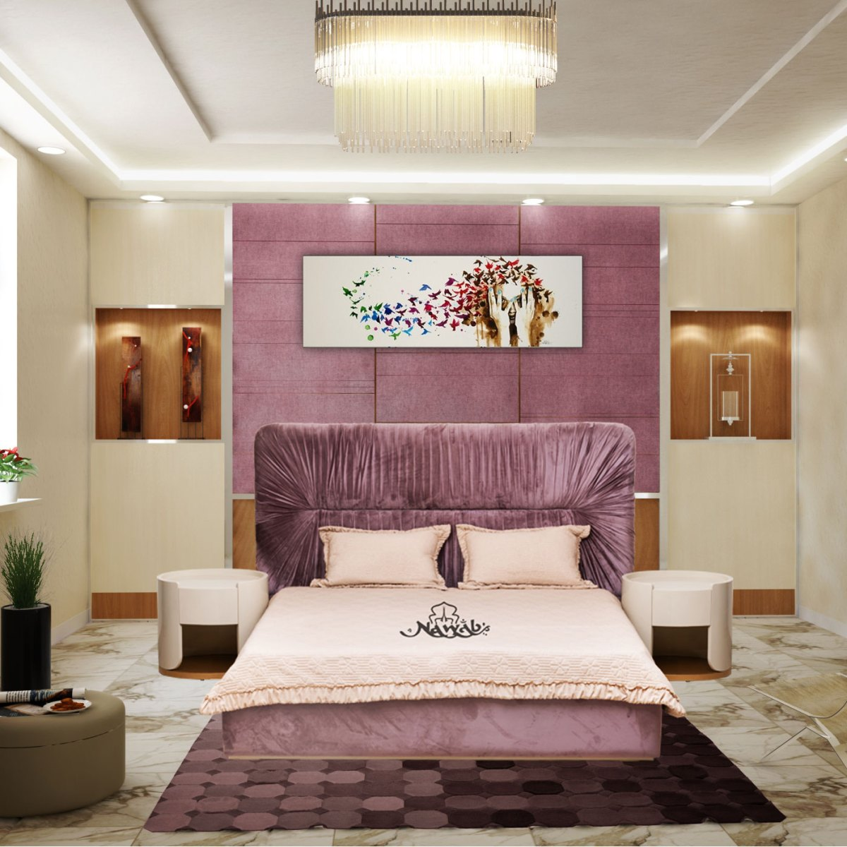 velvet-upholstery-laminated-inside-hydraulic-bed-backround