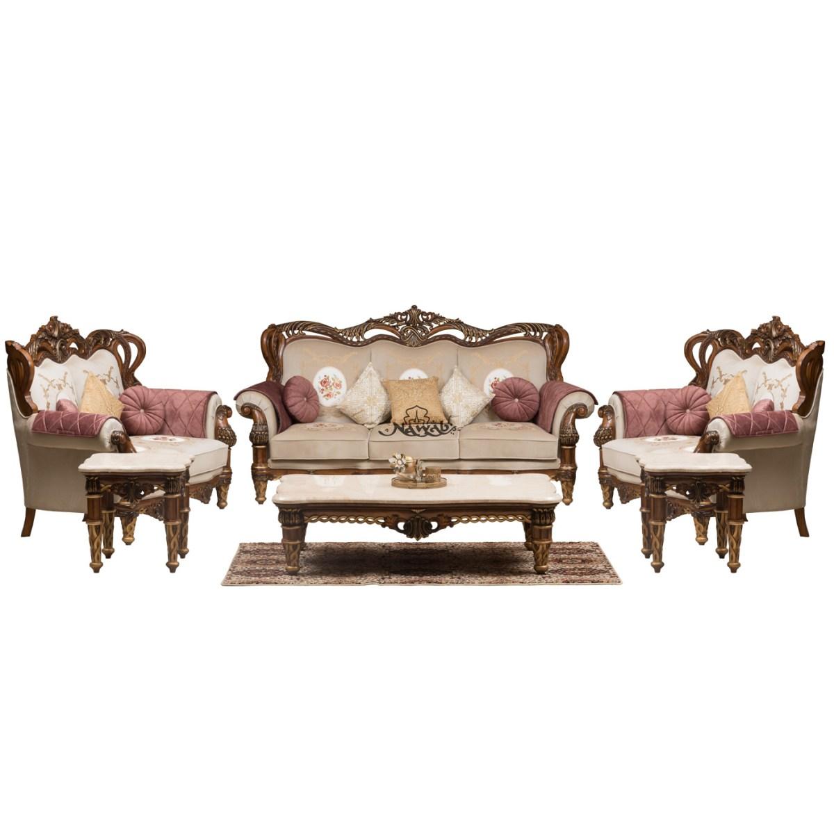 wallnut-mat-polish-solid-wooden-teak-with-carving-velvet-pattern-fabric