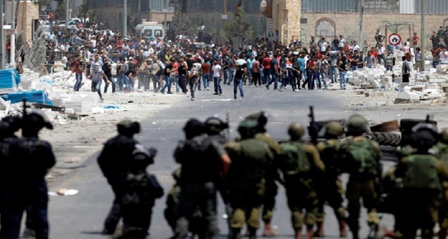 مواجهات مع قوات الاحتلال الاسرائيلي بالضفة المحتلة