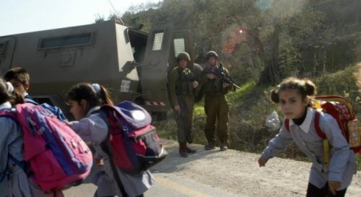 الاحتلال يعيق وصول طلبة اللبن الشرقية لمدرستهم