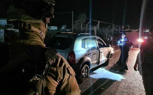 دهس قرب حاجز قلنديا إصابة جندي