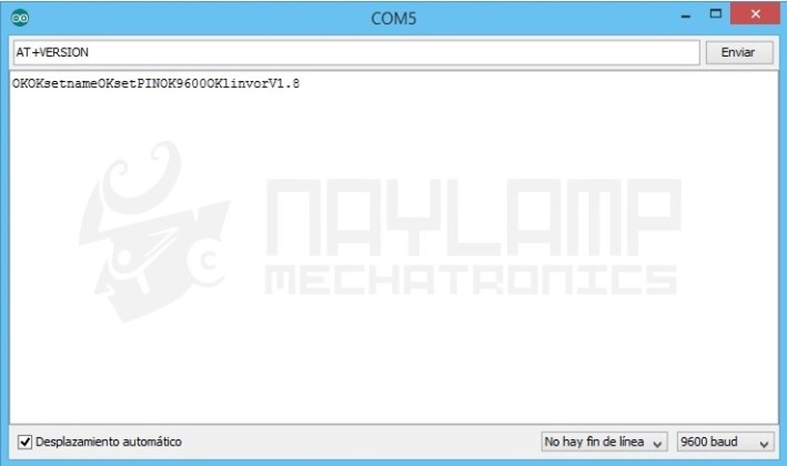 Salida del Monitor Serial despues de enviar comandos AT