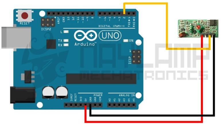 Conexion RF receptor y Arduino
