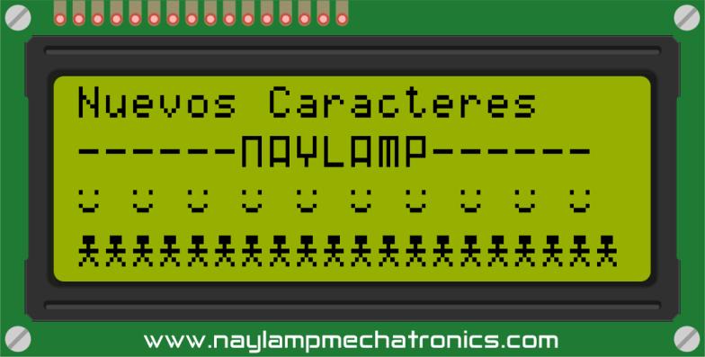 Nuevos caracteres LCD y Arduino