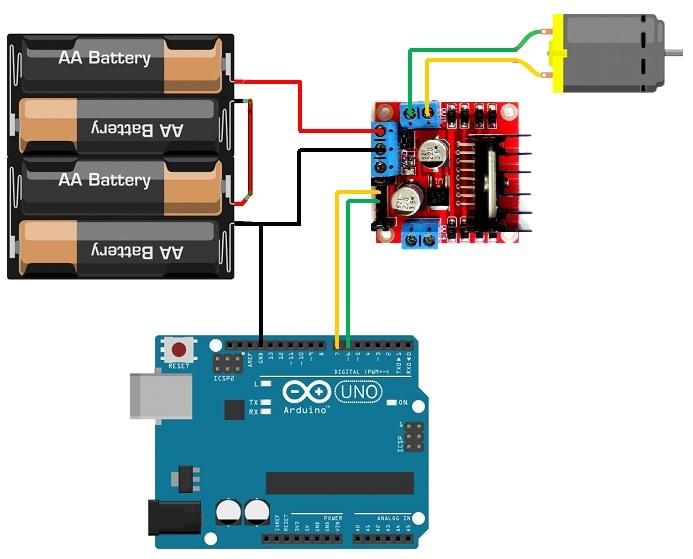 Tutorial, conexión del modulo L298N