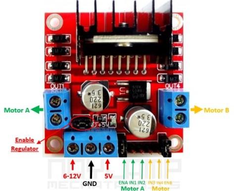 Descripción del modulo L298N