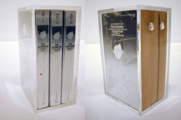 The Shining, 1990, three paperback books in plexi box, 8 x 5 x 4 inches