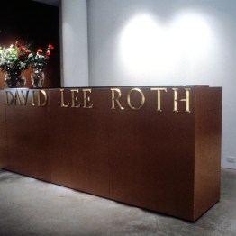 David Lee Roth, 1990, gilt styrene lettering, 8 x 120 inches