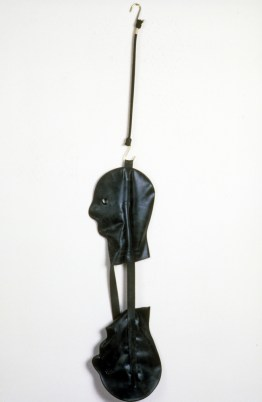 Shiny #1, 1990, latex and steel, 56 x 9 x 6 inches