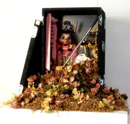 Magic, 1990-1991, mixed media with puppet and armature, 30 x 48 x 24 inches