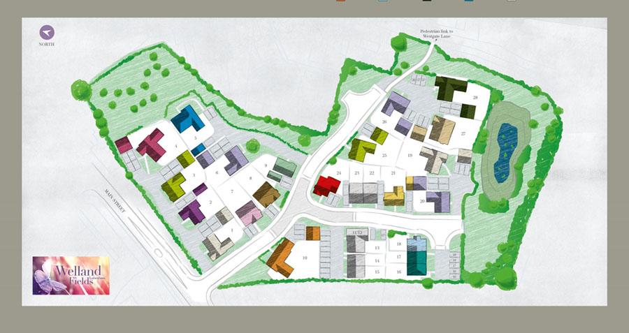 Welland Fields site plan